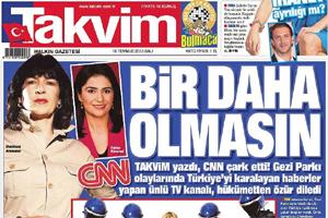 TAKVİM ÜNLÜ SPİKERİ MANŞETTEN BOMBALADI; AMANPOUR TUTUŞTU!