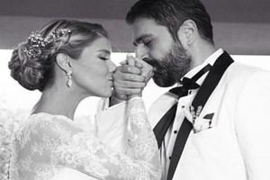 Gülben Ergen-Erhan Çelik evlenirken bir geleneği böyle yıktı!