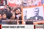 Mansur Yavaş'a Yılmaz Güney ve Deniz Gezmiş protestosu