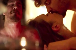 Bu öpüşme sahnesi olay oldu!