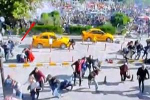 Ankara'daki patlamanın güvenlik kamerası görüntüleri yayınlandı