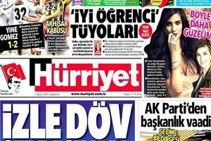 Hürriyet'ten o karara manşetten sert tepki: İzle döv serbest kalsın!