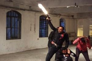 Dizi çekimlerinde tavan çöktü; ünlü oyuncu kıl payı kurtardı!