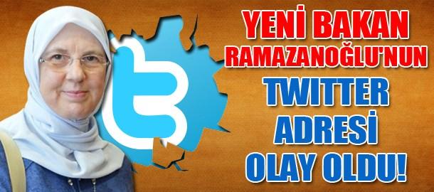 Yeni Bakan Ramazanoğlu'nun twitter adresi olay oldu!
