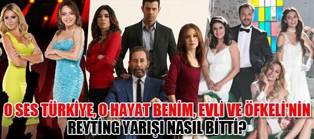 O Ses Türkiye, O Hayat Benim, Evli ve Öfkeli'nin reyting yarışı nasıl bitti?
