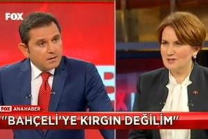 Meral Akşener'den Fatih Portakal'ı şoke eden yanıt!