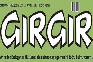 Arınç'ın Erdoğan eleştirisi Gırgır'a kapak oldu; Arap Bülo'nun işi bu!