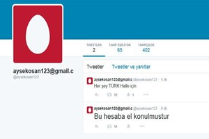 O Twitter hesabı hack'lendi