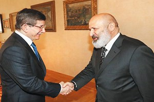 Ünlü medya patronu Davutoğlu ile buluştu