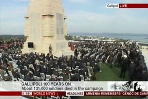 İngiliz kanalları Çanakkale'deki töreni canlı yayınladı!