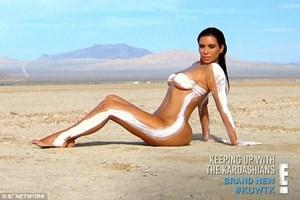 Kim Kardashian çırılçıplak poz verdi