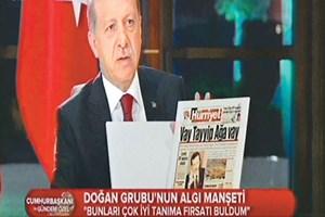 Erdoğan Aydın Doğan'ı manşetlerle vurdu: Maaşlı şarlatanların ne yazarsa yazsın!