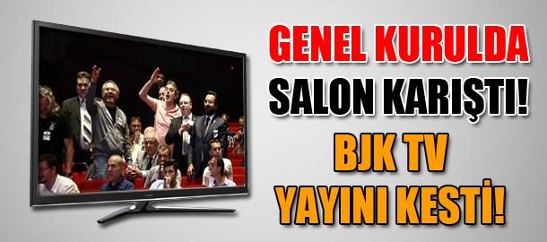 Genel Kurulda salon karıştı! BJK TV yayını kesti!