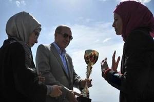 Cumhurbaşkanı Erdoğan'a 'drift'li karşılama