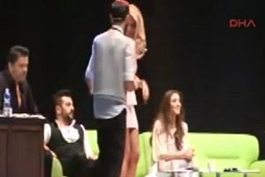 Burcu Esmersoy'un seksi dansı Dortmund'u salladı!