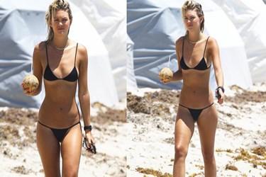Ünlü modelin bikinisi olay oldu!