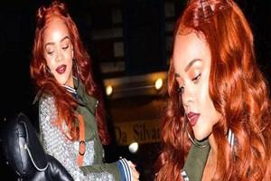 Rihanna 'turuncu'ya döndü