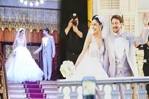 Oyuncu çiftin büyük aşkı evlilikle taçlandı