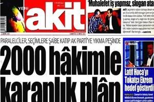 Akit, 12 yıl önce gazeteden ayrılan muhabirin adıyla manşet yazdı!