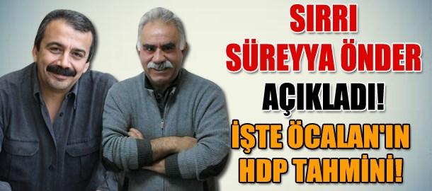Sırrı Süreyya Önder açıkladı! İşte Öcalan'ın HDP tahmini!