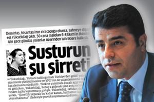Star Gazetesi'nin 'şirret'li başlığı Demirtaş'ı kızdırdı: Rüyanız kabus olmaya devam edecek!