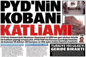Yeni Şafak 'YPG hastanede katliam yaptı' dedi,başhekim' yalanladı: 'Hayattayız'