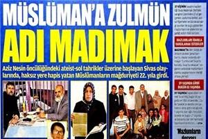 Akit'in skandal 'Madımak' manşeti, Twitter'ı ayağa kaldırdı!