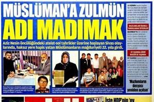 Akit'in 'Madımak' manşeti Meclis'te!