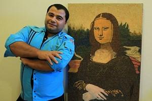Pilavlık pirinçten 'Mona Lisa' tablosu!