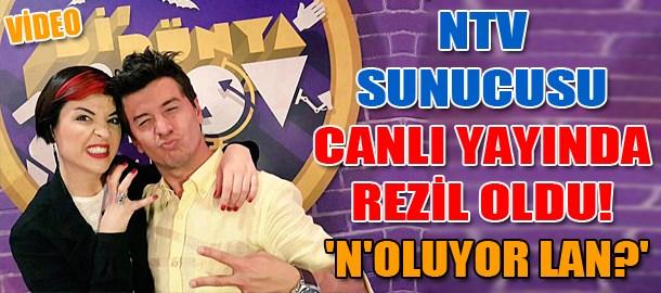 NTV sunucusu canlı yayında rezil oldu! 'N'oluyor lan?'