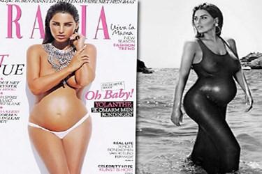 7 aylık hamile Yolanthe'den cesur pozlar!