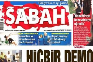 Sabah yazarının vefatı gazetelere böyle yansıdı!