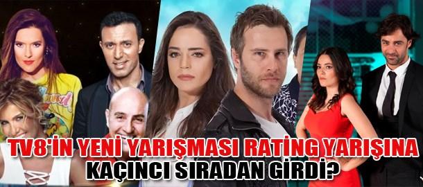 TV8'in yeni yarışması rating yarışına kaçıncı sıradan girdi?