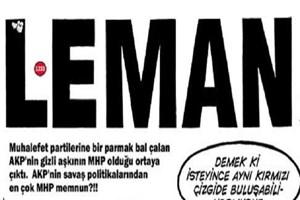 LeMan'dan MHP'ye gönderme! Bahçeli ile Davutoğlu 'kırmızı çizgi'de buluştu!