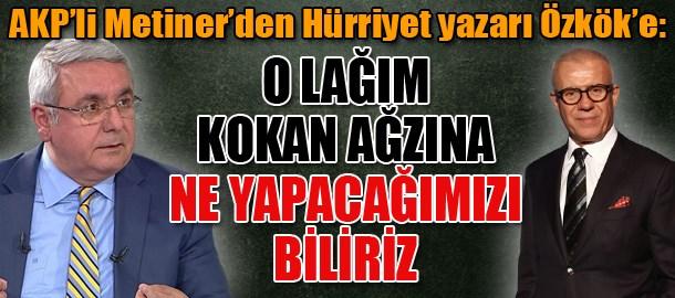 AKP'li Metiner'den Hürriyet yazarı Özkök'e: O lağım kokan ağzına ne yapacağımızı biliriz