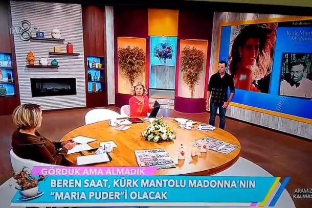 TV8'de utandıran diyalog! Sabahattin Ali'nin Madonna'sını gerçek Madonna sandı!