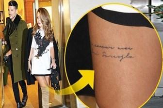 Yağmur Sarıoğlu Sabri'ye olan aşkını bacağına yazdırdı!