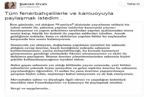 Şükran Ovalı'dan Fenerbahçe açıklaması: Şahsıma yapılan saldırılar...