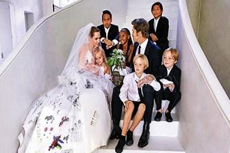 Brad Pitt çocuklarını ilk kez gördü