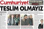 Operasyon yapılan Cumhuriyet  bugün bu manşetle çıktı!