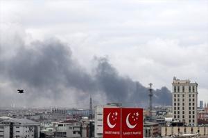 Bayrampaşa'daki iş yeri yangını