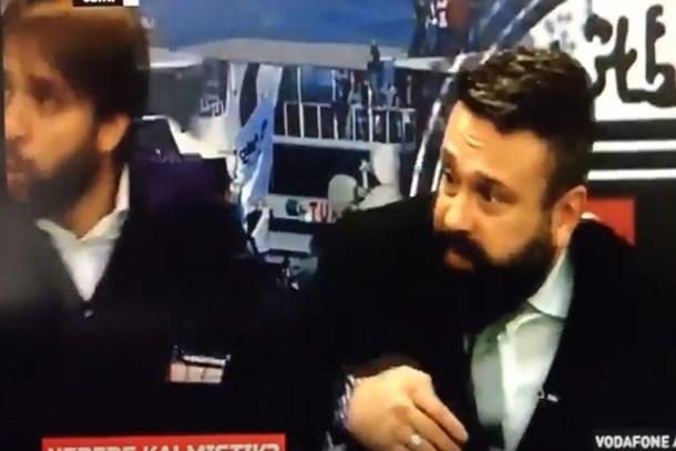Dolmabahçe'de yaşanan patlama BJK Tv'ye böyle yansıdı!
