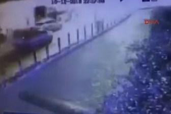 Beşiktaş'taki saldırı anı güvenlik kamerasında!