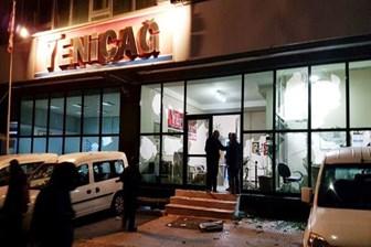 Yeniçağ Gazetesi'ne silahlı, kar maskeli saldırı!
