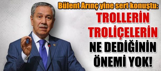 Bülent Arınç'tan açıklama: Trollerin troliçelerin ne dediğinin önemi yok!