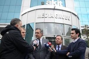Mehmet Ali Yalçındağ'dan Yeni Akit'e geçmiş olsun ziyareti
