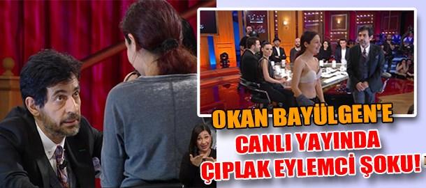 Okan Bayülgen'e canlı yayında çıplak eylemci şoku!