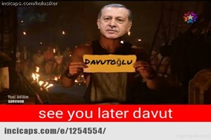 Sosyal medyayı sallayan Davutoğlu caps'leri