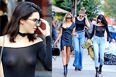 Kendall Jenner'dan cesur kıyafet!