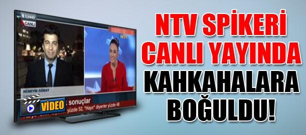NTV Spikeri canlı yayında kahkahalara boğuldu!